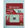 TRANSCEND MICRO SDHC 32GB  CLASS 10 (TS32GUSDC10)