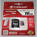 TRANSCEND MICRO SDHC 16GB  CLASS 10 UHS-1 + ADP (TS16GUSDU1)