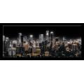 STYLER GL-01463 РЕПРОДУКЦИЯ НА СТЕКЛЕ (СИЯЮЩИЙ ГОРОД) GM015, 50X125СМ , СТЕКЛО С ЭФФЕКТОМ МЕТАЛЛИК
