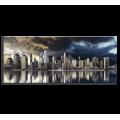STYLER CA-11901 РЕПРОДУКЦИЯ НА ХОЛСТЕ (ЗОЛОТОЙ ГОРОД) EX513 , 60X150X2,8СМ, ХОЛСТ С ЭФФЕКТОМ СЕРЕБРА