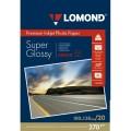 LOMOND А4  BRIGHT SUPER GLOSSY 270 ГР. ОДНОСТОРОННЯЯ СУПЕРГЛЯНЦЕВАЯ,  20Л. (1106100)