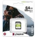 KINGSTON SDXC 64 GB CANVAS SELECT PLUS CLASS 10 U1 UHS-I (100/85 MBs)