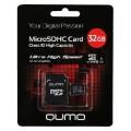 QUMO MICRO SDHC 32GB CLASS 10 UHS-1 С АДАПТЕРОМ